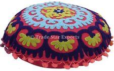 "16"" Uzbek Suzani Sofa Waist Cushion Cover Indian Mandala Floor Pillow Cases Sham"