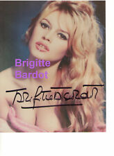 BRIGITTE BARDOT GENUINE HAND-SIGNED AUTOGRAPH PHOTO WITH GOLD CERTIFIED SEAL AKO