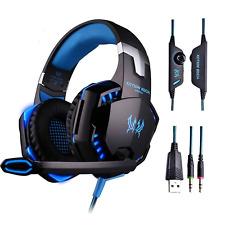 PS4 Gaming Headset G2000 Kopfhörer mit Mikrofon 3.5mm On Ear Surround Sound