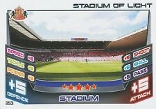 N°253 STADIUM OF LIGHT SUNDERLAND.FC TRADING CARD MATCH ATTAX TOPPS 2013