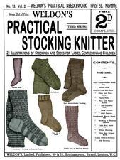 Weldon's 2D #13 c.1886 Vintage Socks and Stocking Knitting Patterns