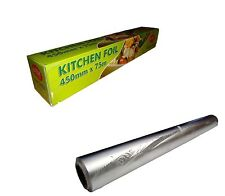 6 Aluminium  KITCHEN/CATERING FOIL  450mmX75m 18'' food