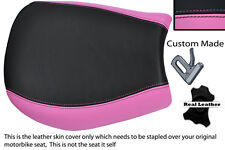 PINK & BLACK CUSTOM FITS TRIUMPH SPEED TRIPLE 955 i 97-01 FRONT SEAT COVER
