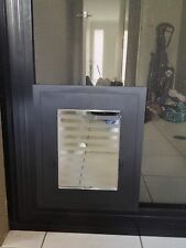 Security Screen PET DOOR - For DOGS up to 10kg & all CATS - BLACK VERSION