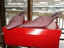 CLAUDIA CIUTI WOMENS SHOES HEELS MULES SLIDES PINK PATENT LEATHER SZ 6 NIB ITALY