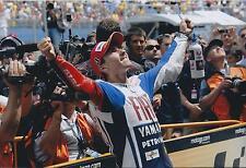 Jorge Lorenzo SIGNED MotoGP Autograph YAMAHA 12x8 Photo Celebration AFTAL COA