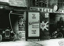 """5x7""""photo BP PRATT MOTOR SPIRIT SHELL GAS FROM THE PUMP NATIONAL BENZOLE MIXTURE"""