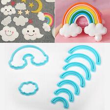 9Pcs Rainbow Arch Cloud Shape Cookie Cutter Dough Biscuit Pastry Fondant Tool