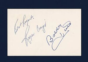 Roger Crozier & Bobby Hull signed 1978 Government Postcard