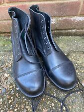 BLACK LEATHER AMMO AMMUNITION DRESS BOOTS - Size: 11 M British Army Issue