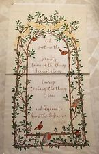Free ship Serenity Prayer 100% cotton fabric panel 23.5 x 44 inches - Christian