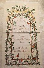 Free ship Serenity Prayer 100% cotton fabric panel 23.5 x 44 inches - Christian