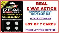 Genuine Stacker 2 Real 2 Way Action Diet and Energy, 4/Card (Lot of 7 X) = 28