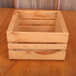 Small Unfinished Pine Wood Crate