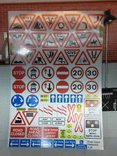 G LGB 1:24 Scale Modern Road Signs Notices Model Railway Layout Crossing Diorama