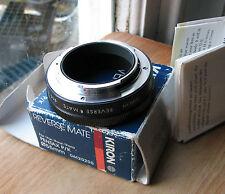 Pentax PK K (film camera)  fit reverse mount to 55mm filter macro used Kiron