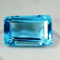 IGI CERTIFIED Always Natural Amazing Blue Aquamarine Rare Loose Gemstone 15 Ct