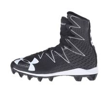 44eb3a4a2 BRAND NEW UNDER ARMOUR BOYS UA HIGHLIGHT RM JR FOOTBALL SHOES 4 4Y BLACK