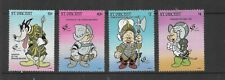 HICK GIRL- MINT ST. VINCENT STAMPS    DISNEY   THE THREE LITTLE PIGS   T230
