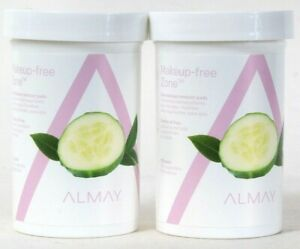 2 Almay Eye Makeup Free Zone Gentle Oil Free 120 Count Pads No Greasy Residue