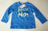 Tee-shirt bleu manches longues neuf taille 18 mois marque Grain de Blé