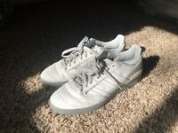 Adidas Busenitz 3rd & Army Colorway Size 10.5 White Leather Grey Bot Cut Tounge