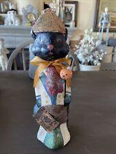 "Teena Flanner for Bethany Lowe Halloween Chalkware Figurine 11"" Tall Cat"