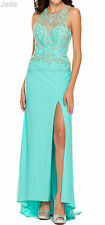 STRETCHY FITTED PROM DRESS SWEET 16 GALA PAGEANT RED CARPET EVENING FORMAL GOWN