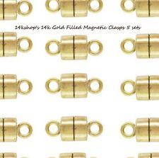 5 Sets 14k Gold Filled 4.5mm  Magnetic Magnet Clasp Necklace Bracelet Connector