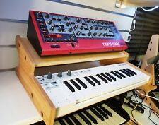 OAK VENEERED ARTURIA KEYSTEP STAND WITH ADDITIONAL SHELF FROM SYNTHS AND WOOD