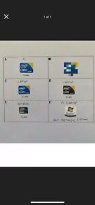 20 X Sticker Label Windows 7 Intel Core i3 i7 Atom PC Laptop Netbook - New