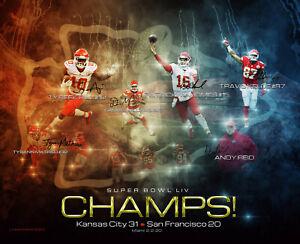 KC Chiefs Super Bowl Champs! Custom Print