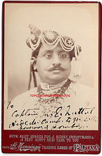 Cabinet Card Mansingji Thakore Saheb of Palitana Given to ADC Gov Bombay c1887