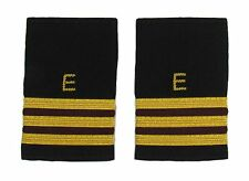 More details for epaulette aircraft engineers gold-maroon with e 3 gold & 2 maroon bars r1751