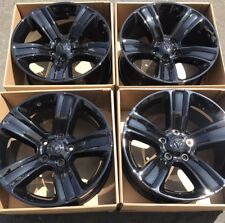"20"" Dodge Ram OEM 1500 Factory Sport Wheels Rims Gloss Black 2016 2017"