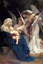 William-Adolphe Bouguereau Song of the Angels Art Print - 24x36