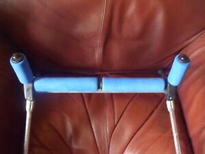 DINSMORES 'SILVER ROLLER' Flat Pole roller - Adjustable Legs - Made in UK -.