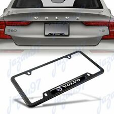 For 1PCS VOLVO Black Stainless Steel Metal License Plate Frame New