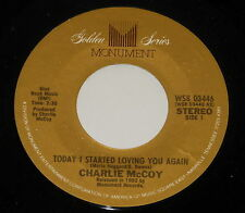 """Charlie McCoy - 7"""" Single - Today I Started Loving You Again - Monument"""