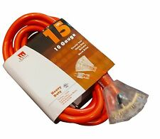 15 Ft Triple Tap 10 Gauge Extension Cord Lit Ends NEW 10/3 15 Foot Feet