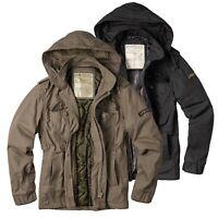 SURPLUS RAW Vintage Airborne Herren Winter Jacke Feldjacke U.S. Giant Parka