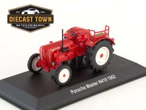 1:43 Scale Porsche-Diesel Master N419 Red German Farm Tractor 1962 Year