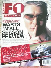 F1 RACING MAGAZINE MAR 2004 MIKA SEASON PREVIEW F1 TECH AYRTON SENNA TRIBUTE