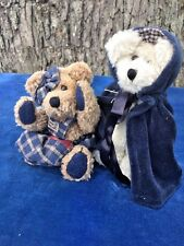Boyds Teddy Bears Set of 2 Natasha Berriman Little Red Riding Hood n Blue + 1