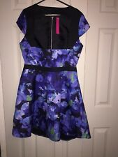 BNWT's Very size 14 multiprint exposed midriff cap sleeve skater dress