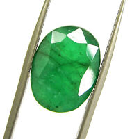 8.85 Ct Certified Natural Green Emerald Loose Gemstone Oval Cut Stone - 134205