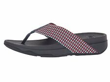 Fitflop Surfa Midnight Navy Mix Women's T-Strap Wedge Sandal H84-442