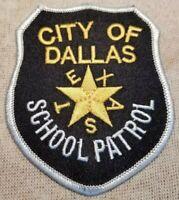 TX City of Dallas ISD Texas School Patrol Patch