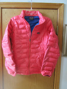 Kids Patagonia XXL (16-18) Down Light weight Jacket, Coral Color