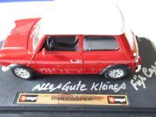 BBURAGO Modellauto Mini Cooper rot-weiß 1/18
